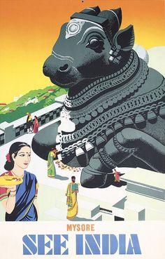 Vintage Travel Poster/ India