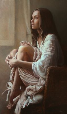 https://flic.kr/p/R9Wfu8 | Victoria Novak - Window [2013] | Realist painter Victoria Novak began her artistic career as an interior designer in her native Russia. For many years she enjoyed a successful career in her home city. A move to Italy, where her love of Italian Renaissance art was fostered, inspired Victoria to devote herself to painting. She began to experiment with Old Master painting techniques, but applying them within a more contemporary context. Of adopting the time honoured…