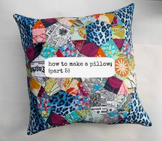 how to make a pillow {part 5} by ImAGingerMonkey, via Flickr