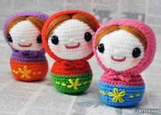 amigurumi Matryoshka crochet. I need to find a pattern for these - adorable!