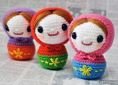 Amigurumi Russian Doll Pattern : Russian dolls crazy crochet dolls