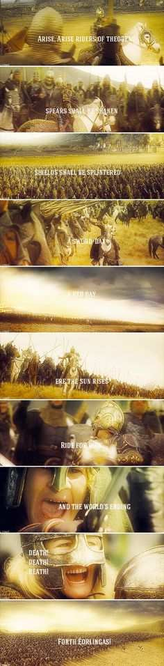 → Ride for ruin and the world's ending #lotr
