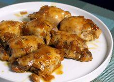 Baked Boneless Chicken Thighs, Roasted Chicken Thighs, Oven Roasted Chicken, Easy Baked Chicken, Glazed Chicken, Baked Chicken Recipes, Orange Chicken, Chicken Breasts, Turkey Recipes