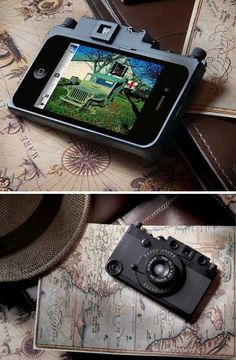 Leica Camera iPhone case with shutter release. Read it & weep - tears of joy, my little photog.