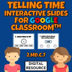Interactive Google Slides math game covering telling time to the nearest five minutes CCSS 2.MD.C.7 Distance learning2 challenges, 10 multiple choice self-checking problems each- telling time from an analog clock- choosing which analog clock shows written time Digital product - no prep!This is a dig... Number Value, Multiple Choice, Place Values, Telling Time, Google Classroom, Math Games, Elementary Schools, Distance, Self
