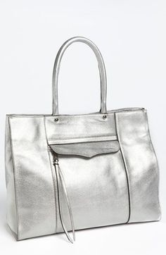 Rebecca Minkoff M.A.B. Metallic Leather Tote available at #Nordstrom