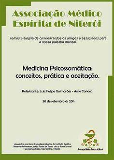 A Associação Médico-Espírita de Niterói tem a alegria de convidar todos os amigos para a sua Palestra Mensal - Niterói - RJ - http://www.agendaespiritabrasil.com.br/2015/09/26/a-associacao-medico-espirita-de-niteroi-tem-a-alegria-de-convidar-todos-os-amigos-para-a-sua-palestra-mensal-niteroi-rj-2/