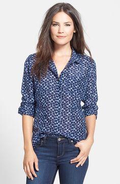 Halogen® Cotton & Silk Shirt (Regular & Petite) | Nordstrom