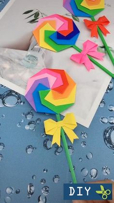 Diy Crafts Hacks, Diy Crafts For Gifts, Diy Crafts Videos, Summer Crafts, Paper Crafts Origami, Paper Crafts For Kids, Diy Paper, Instruções Origami, Origami Fish