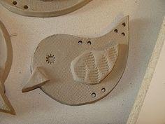 clay slab birds.