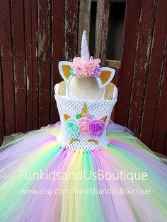 Unicorn Tutu Dress Unicorn Dress Lined Crochet top Unicorn
