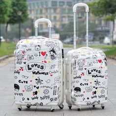 Cheap trolley luggage, Buy Quality spinner wheels directly from China cartoon suitcase Suppliers: inches ABS+PC hard shell lovely cartoon suitcase trolley luggage/Pull Rod Travel trunk /traveller case box spinner wheels Cute Luggage, Best Luggage, Luggage Sets, Travel Luggage, Travel Bags, Hard Sided Luggage, Cute Suitcases, Indian Shoes, Accesorios Casual