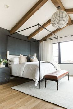 Home Remodel Bedroom Modern Bedroom Design Ideas for a Dreamy Master Suite - jane at home.Home Remodel Bedroom Modern Bedroom Design Ideas for a Dreamy Master Suite - jane at home Navy Master Bedroom, Master Bedroom Design, Home Decor Bedroom, Girls Bedroom, Bedroom Ideas, Bedroom Black, Diy Bedroom, Trendy Bedroom, Masculine Master Bedroom
