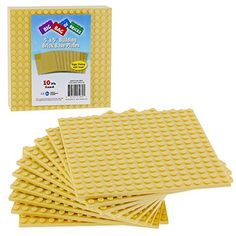 """Brick Building Base Plates by SCS - Small 5""""x5"""" Sand Baseplates - Tight Fit with Lego by SCS Direct via https://www.bittopper.com/item/brick-building-base-plates-by-scs-small-5x5-sand/"""