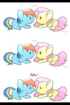 Rainbow Dash and Fluttershy ❤️