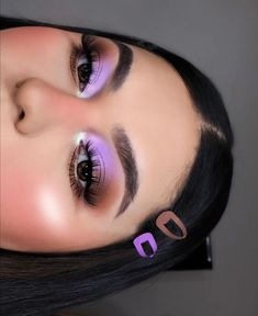 Purple Makeup Looks, Makeup Eye Looks, Full Face Makeup, Cute Makeup, Beauty Makeup, Makeup Without Eyeliner, Without Makeup, Eyeshadow Makeup, Eyeshadows