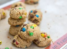 Brown Butter Oat & M Cookies www.confessionsofabakingqueen.com