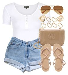 """Style #8461"" by vany-alvarado ❤ liked on Polyvore featuring Topshop, ASOS and Ray-Ban"
