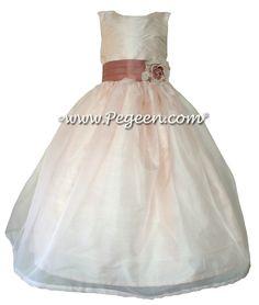 Rum pink Flower Girl Dresses by Pegeen.com