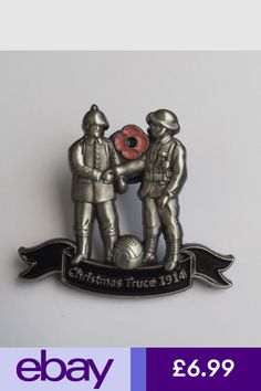 Enamel Badges Collectables #ebay Christmas Truce, Poppy Pins, Donate To Charity, Antique Pewter, Metal Pins, Pin Badges, Poppies, Antiques, Enamel