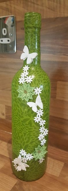 Decorative Wine Bottle by TheMintDeco on Etsy