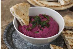 Ingredientes para la receta Hummus de remolacha del blog Entrando en la cocina con Claire