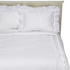 Simply Shabby Chic® Heirloom White Comforter - A very Wendy bed! Target Shabby Chic Bedding, Target Bedding, White Ruffle Comforter, White Bedding, King Comforter Sets, Bedding Sets, Neutral Bedding, Simply Shabby Chic, Big Girl Rooms