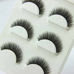 3 pairs /set 3D Cross Thick False Eye Lashes Extension Makeup Super Natural Long Fake Eyelashes