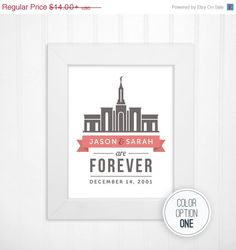 SALE Custom LDS Temple Print in Choice of by inspiredtypedesigns