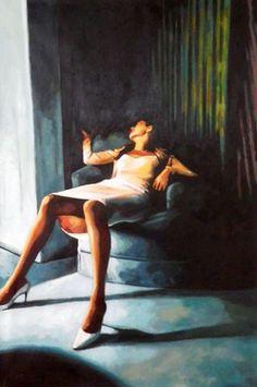 "Saatchi Online Artist thomas saliot; Painting, ""Blue velvet"" #art"