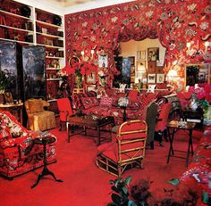 Diana Vreelands Famous Red Living Room | via http://Styleite.com | House  Home
