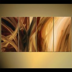 Original Abstract Painting on Canvas by Osnat  by OsnatFineArt, $639.00