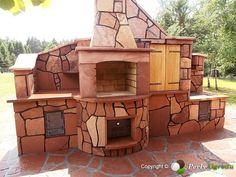 grill murowany - Szukaj w Google Firewood, Grilling, Cabin, Google, House Styles, Outdoor Decor, Home Decor, Oven, Woodburning