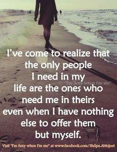 People Who Need Me