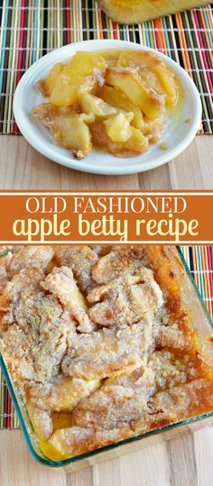 Old Fashioned Apple Betty Recipe