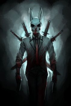 Beware of the Bunny Man! Dark Fantasy Art, Foto Fantasy, Fantasy Kunst, Dark Art, Fantasy Artwork, Fantasy Character Design, Character Design Inspiration, Character Concept, Character Art