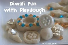 Make your Own Diyas for Diwali and Sweets with Playdough from The Educators' Spin On It
