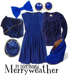 Disney Bound: Merryweather from Disney's Sleeping Beauty Disney Themed Outfits, Disney Inspired Fashion, Character Inspired Outfits, Disney Bound Outfits, Disney Dresses, Disney Fashion, Disney Clothes, Estilo Disney, Fandom Fashion