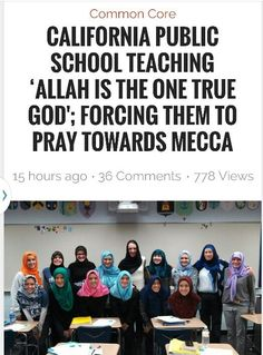 "By BI: Roane County Tea Party accuses schools of indoctrinating students with Islam…a problem that is spreading to schools all over America in conjunction with Common Core curricula, funded by the Islamic state of Qatar. WATE  The group also claims middle school students have to recite an Islamic prayer and learn that ""Allah is the same god …"
