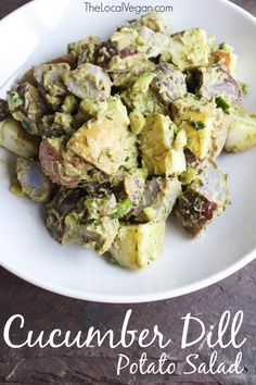 Cucumber Dill Potato Salad with Avocado — The Local Vegan™ | Official Website