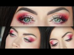 Peach and Fuschia Cut Crease Makeup Tutorial - YouTube