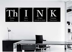 wall vinyl periodic table letters - Google Search