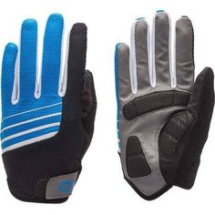 Bell Sports Ramble 550 Full-Finger Cycling Gloves, Blue White