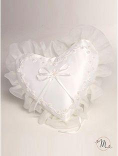 Cuscino fedi - cuore perline
