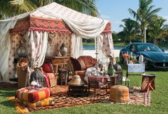 Moroccan-inspired Polo tailgate designed by Sean Rush. Photo by Jerry Rabinowitz