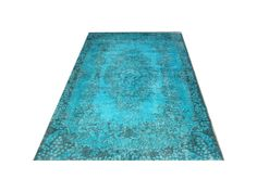 7 X 3 215 115 Cm Turkish Vintage Turquoise Ocean Blue Overdyed Faded Destressed Handmade Carpet Rug Just Beautiful