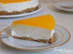 cheesecake al limone Lemon Cheesecake, Parfait, Mousse, Flan, Sweet Tooth, Dairy, Cooking Recipes, Cakes, Desserts