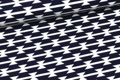 Jersey - Tomahawk Stripe - Art Gallery -Dunkelblau auf alles-fuer-selbermacher.de