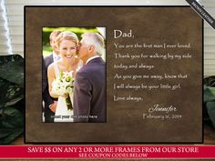 Father of The Bride Frame Father of the Bride gift by TheSubShoppe