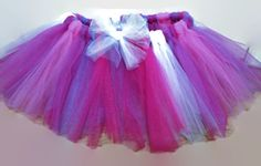 Tulle Tutu 3T Girl's Hot Pink Purple White Age 3 Years by YoungSparkleandShine on Etsy